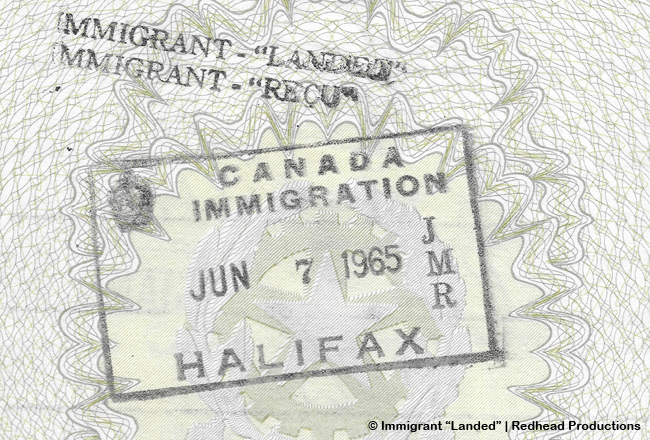 """Immigrant """"Landed"""""""